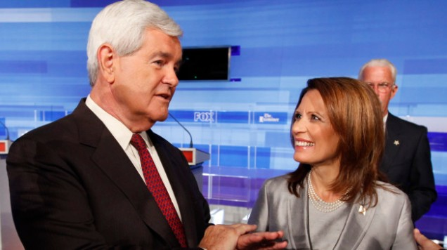 Michele Bachmann, Newt Gingrich