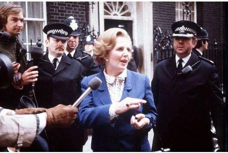Prime Minister Margaret Thatcher, on taking office in 1979