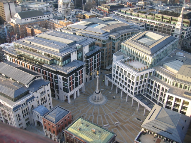 Paternoster Square - a cathedral to consumerism next to St Paul's Cathedral