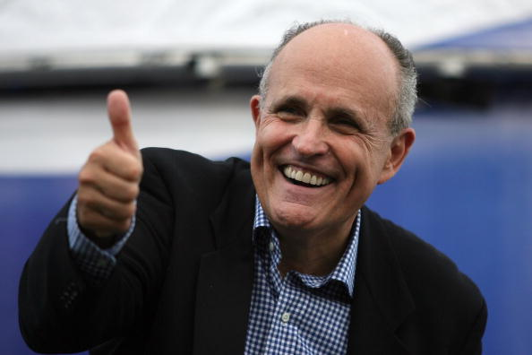 You don't want to know why Rudy Giuliani is smiling.