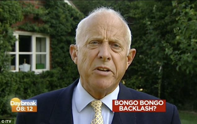 Godfrey Bloom will be sitting out the next few rounds. Image from ITV News.