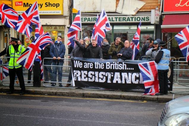 Britain First Muslim Protest 2