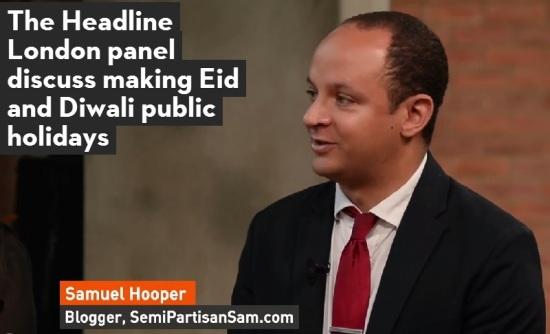 Samuel Hooper London Live Headline London Eid Diwali Public Holiday 2