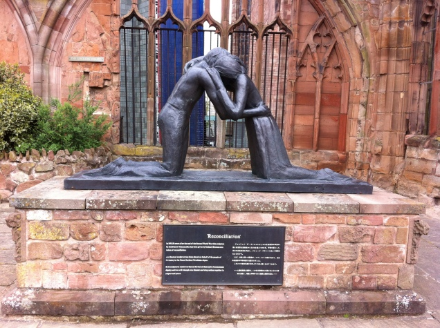 Statue of Reconciliation Coventry Cathedral Britain