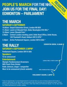 Peoples Assembly NHS March Demo