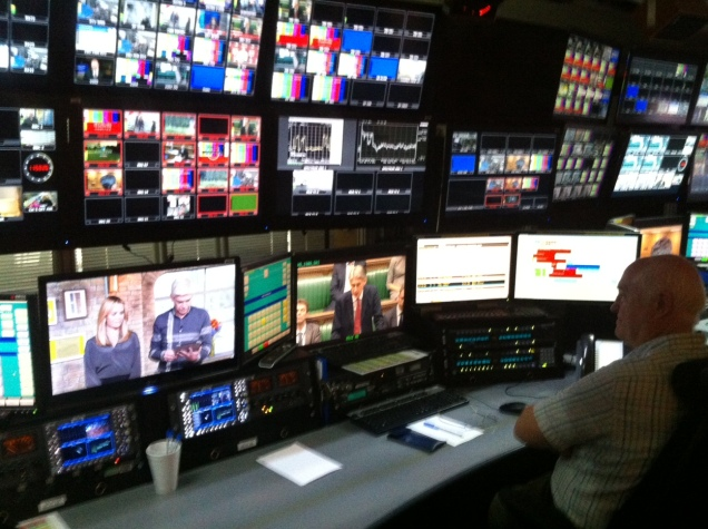 The Master Control Room (MCR) at the ITN London studios