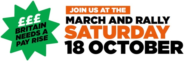 TUC Britain Needs A Pay Rise Demonstration SPS