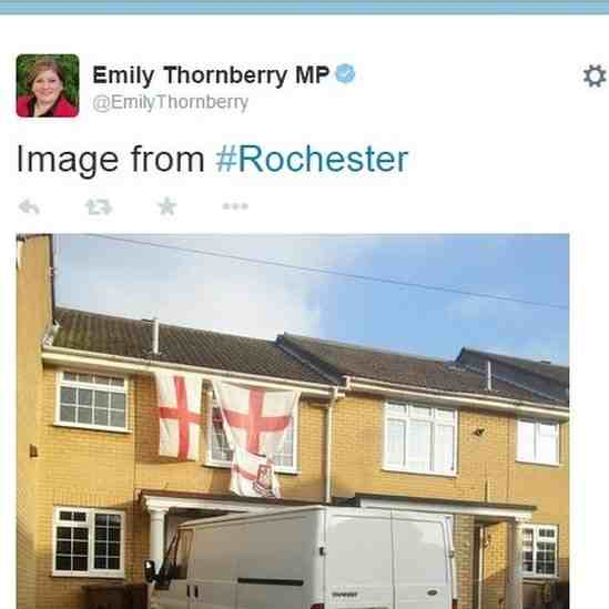 Emily Thornberry Rochester England Flag House Resignation SPS