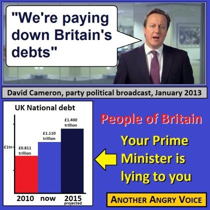 David Cameron Deficit Debt Reduction Austerity