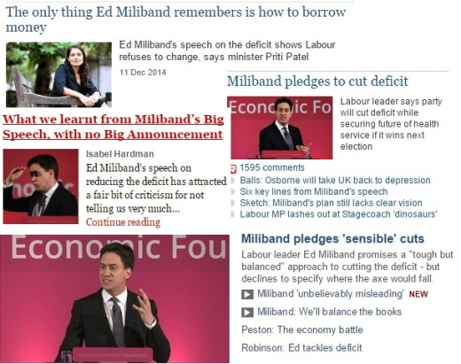 Ed Miliband Speech Deficit Austerity Economic Policy Media SPS