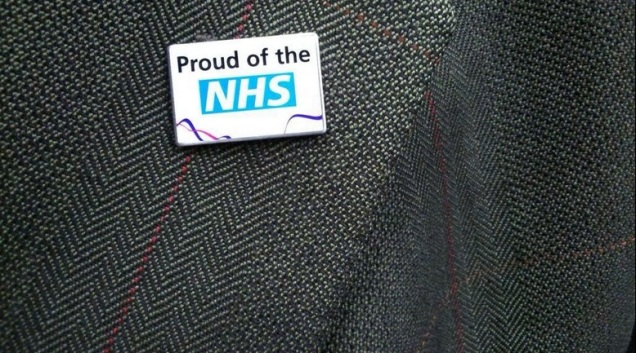 NHS Lapel Pin National Religion Healthcare Hagiography SPS