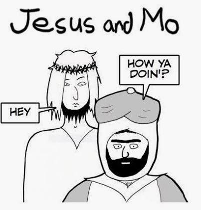 Jesus and Mo Mohammed Charlie Hebdo