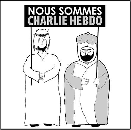 Jesus And Mo Nous Sommes Charlie Hebdo JeSuisCharlieHebdo
