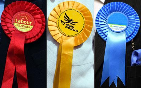 Tory Conservative Labour LibDem Liberal Democrat Rosettes