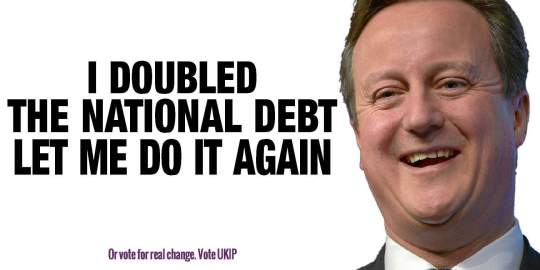 David Cameron Doubled National Debt Conservative Party UKIP