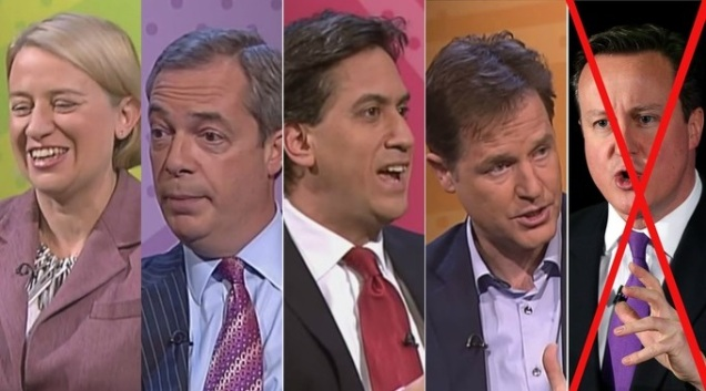General Election 2015 Leaders Debate Cameron Miliband Totalitarian