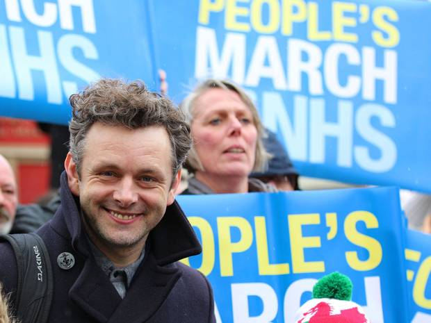 Michael Sheen British Politics NHS Healthcare 2015 Election