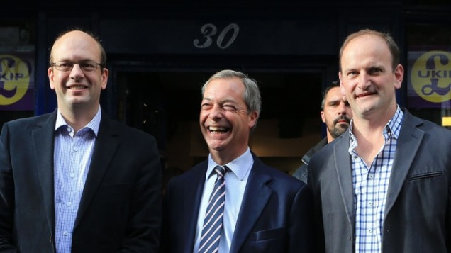 Nigel Farage Mark Reckless Douglas Carswell UKIP Defectors Phone Hacking