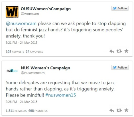 NUS Womens Campaign 2015 Jazz Hands Clapping Anxiety