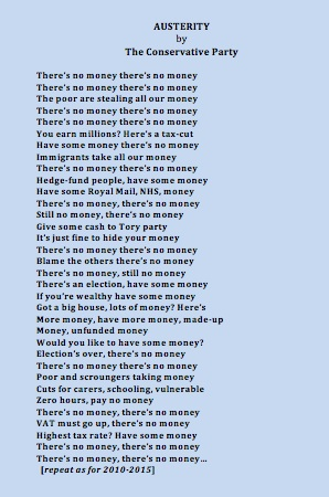 Austerity poem - David Schneider - Conservative Party