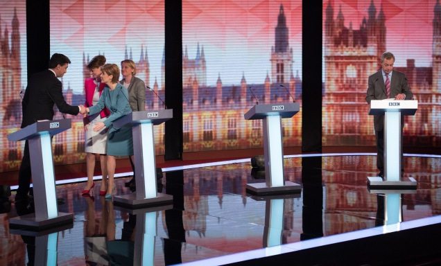 BBC Challengers Debate - Leaders Debate - General Election 2015 - Nigel Farage Stands Alone