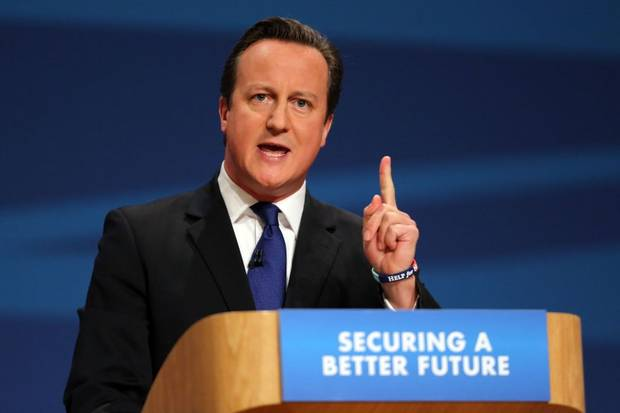 David Cameron - Conservative Party - NI VAT Income Tax Lock - General Election 2015