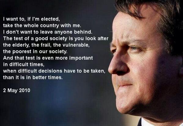 David Cameron - Conservative Party - Tory Compassion - General Election 2015