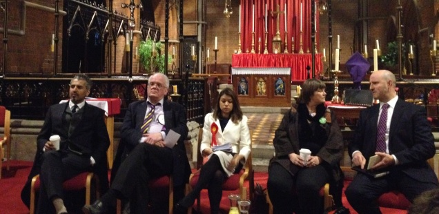 General Election 2015 Hampstead and Kilburn Candidate Hustings - Maajid Nawaz - Magnus Nielsen - Tulip Siddiq - Simon Marcus - Rebecca Johnson