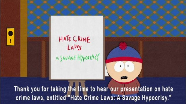 Hate Crime Laws - Islamophobia - Labour Party - Ed Miliband - South Park