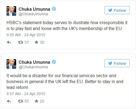 HSBC Brexit Chuka Umunna