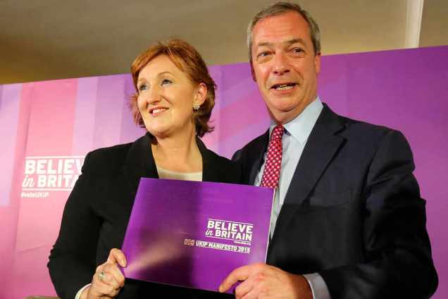 UKIP 2015 General Election Manifesto Launch - Thurrock Essex - Nigel Farage - Suzanne Evans