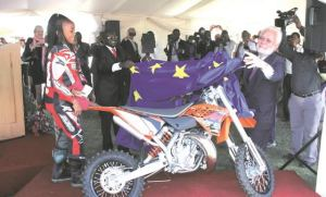 European Union Flag Motorbike
