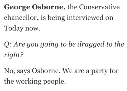 General Election 2015 - George Osborne - Conservatism - Coke Zero Conservatism