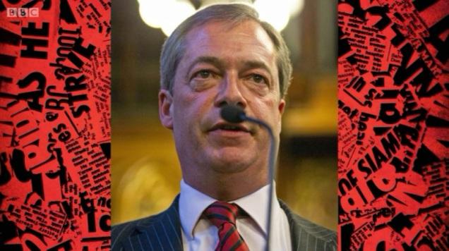 Nigel Farage - Hitler Moustache
