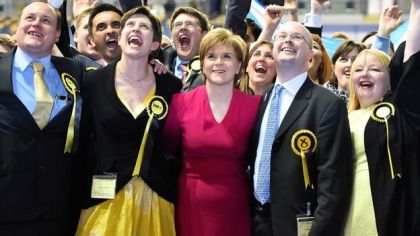 SNP - Scottish National Party - General Election 2015 - Tartan Tea Party - Nicola Sturgeon