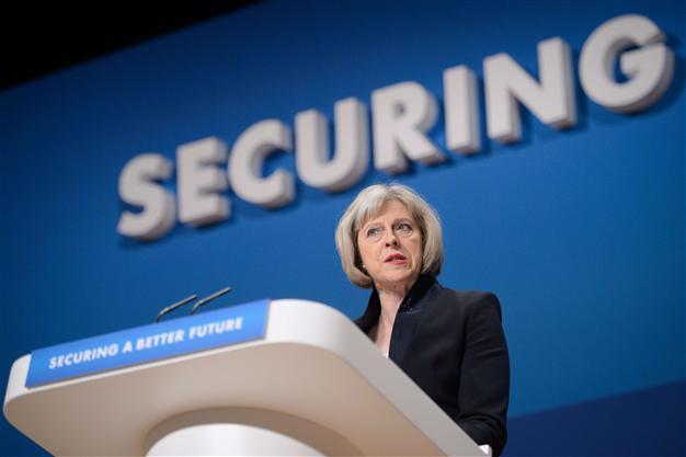 UK Conservative Party Home Secretary Teresa May