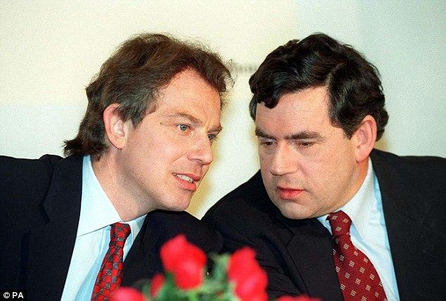 Tony Blair Gordon Brown - Labour Party