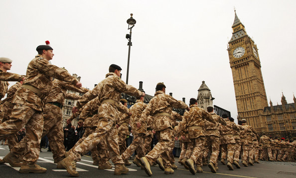 Troops Westminster Parliament