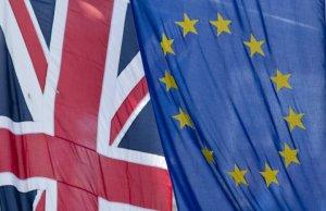 UK British EU Flags - Brexit - European Union - Secession Referendum