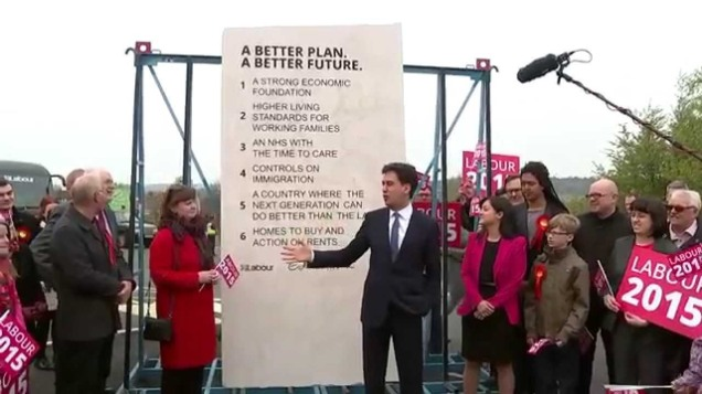 2 - Ed Miliband - EdStone - General Election 2015 - Ed Stone
