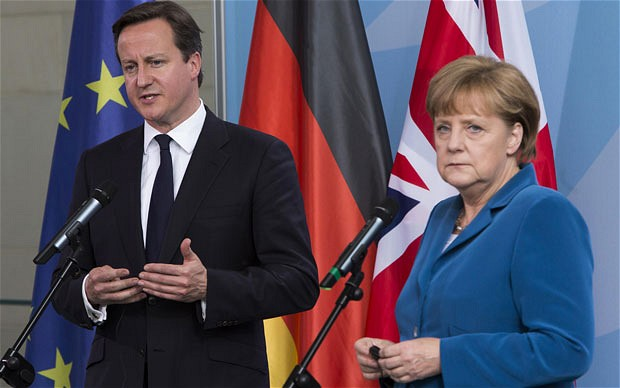 David Cameron - Angela Merkel - EU - 2