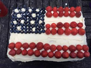 US Flag - Fourth Of July Cake - Independence Day - Baking - Let Freedom Ring