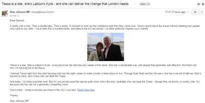 Tessa Jowell - Alan Johnson Endorsement - London Mayor
