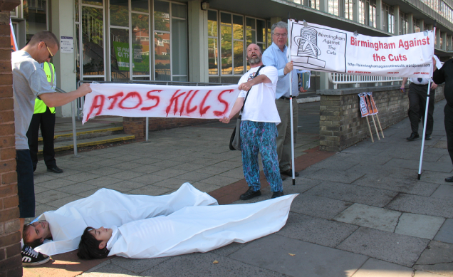 ATOS Kills - Birmingham Against The Cuts - DWP - Welfare Reform