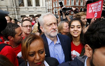Labour Leadership Election Result - 3 - Corbyn Arrives