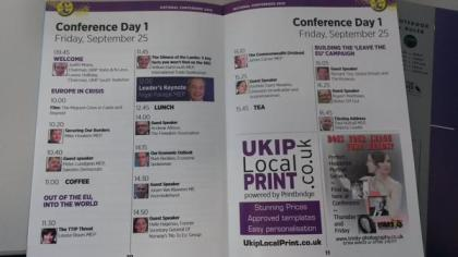 UKIP Conference Agenda