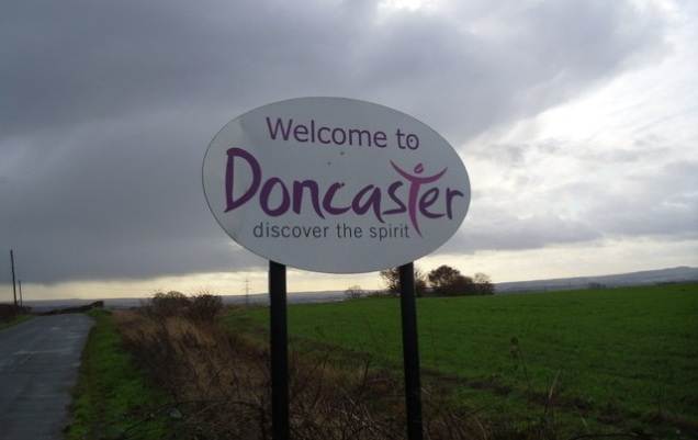 Welcome To Doncaster - Road Sign