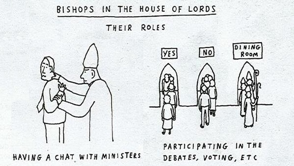 Church of England - Church and State - Parliament - Lords Spiritual - Cartoon - 2