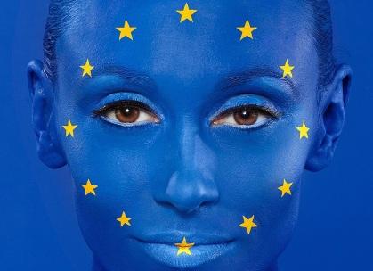 EU Flag Facepaint