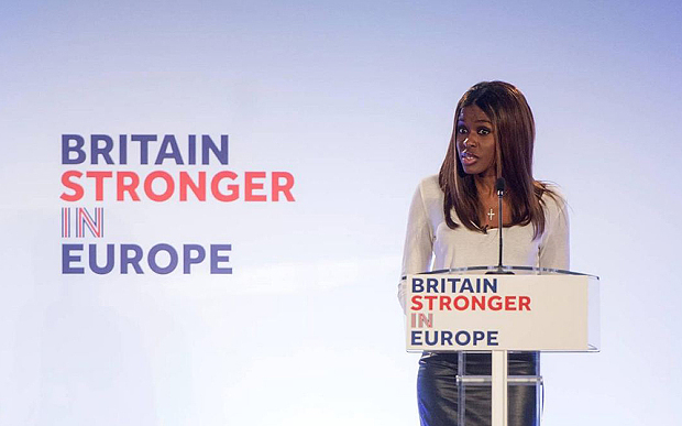 June Sarpong - Britain Stronger in Europe - EU Referendum - Brexit